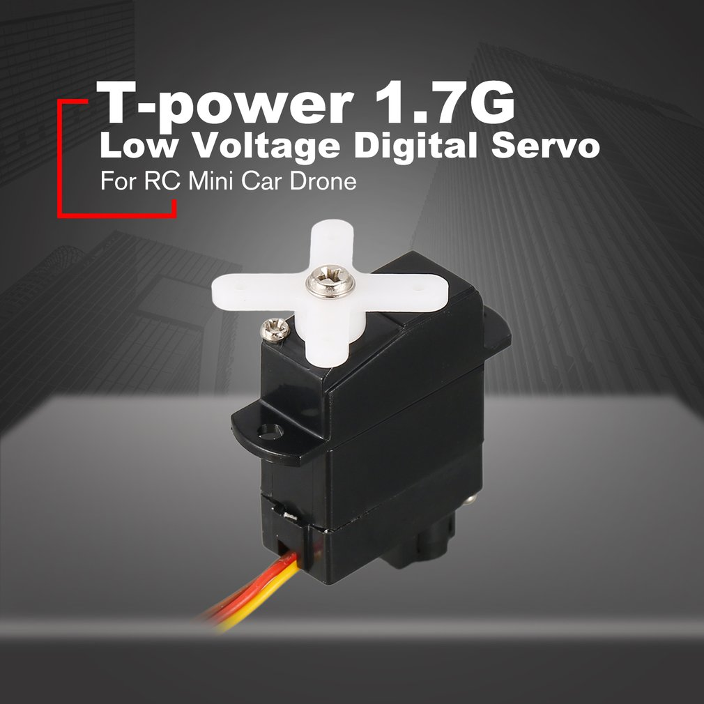 T-power 1.7G Low Voltage Digital Servo JST Connector KIT RC Mini Car Fixed Wing Quadcopter Helicopter Drone Spare Parts