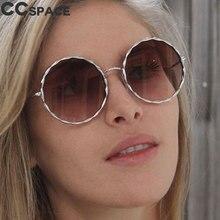 db8c7f753c CCspace Metal Sunglasses Women Ocean Shades UV400 Brown Glasses Pink Round  Eyewear