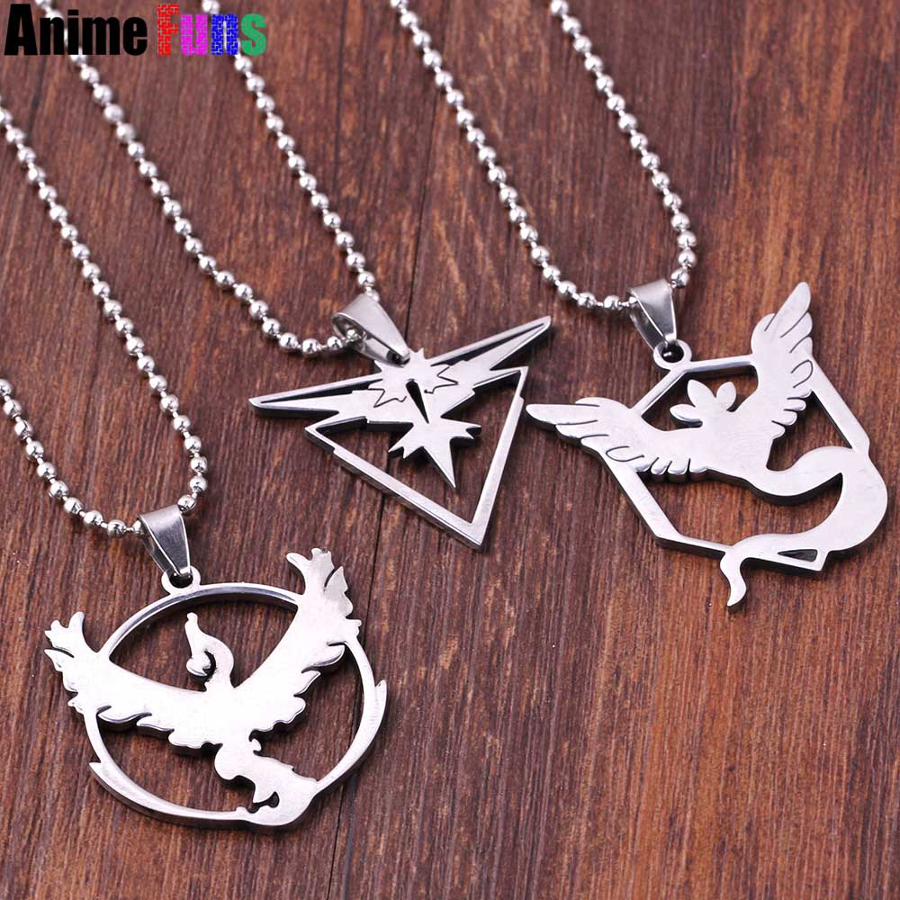 Game Pokemon Go Choker Necklace for women man statement necklace Team Valor Mystic Instinct Logo Necklace Pendant Jewelry