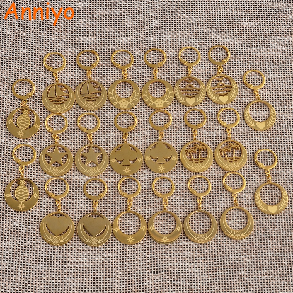 Anniyo Gold Color Earrings for Women Girls Kiribati Earring New Zealand Australia Jewelry Marshall Micronesia Gifts #048221 bledisloe cup new zealand australia