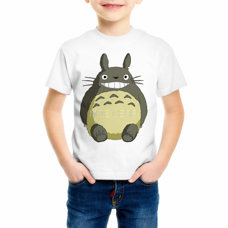 Kawaii Anime Totoro Printing T-shirt Childrens Totoro Tshirt Girl/Boy Funny T Shirt Kid Top Tee Summer Soft Tee Shirt C34-1