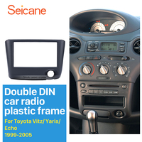Seicane 173*98MM Double Din Car Radio Fascia for 1999 2005 Toyota Vitz Yaris Echo Installation Frame Dash CD DVD Player Panel
