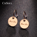 CHSOUL Brand Unique Earrings Polishing Zinc Alloy Rose Gold Plated Studs Jewelry Romantic Earrings For Women