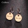 CHSOUL Marca Unique Pendientes de Pulido de Aleación De Zinc Plateado Oro Espárragos Joyería Romántica Pendientes Para Las Mujeres