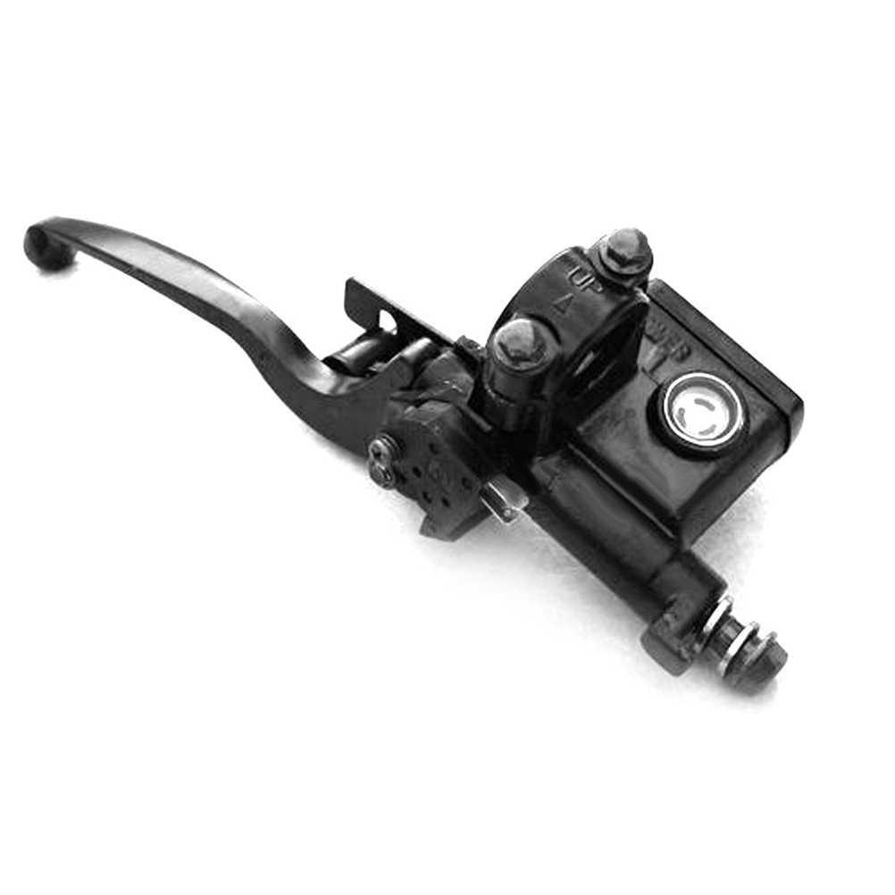 Kiri Atas Disc Pompa Rem Master Silinder Rem Controller dengan Tuas Pompa untuk ATV Quad Dirt Pit Sepeda Scooter (hitam)