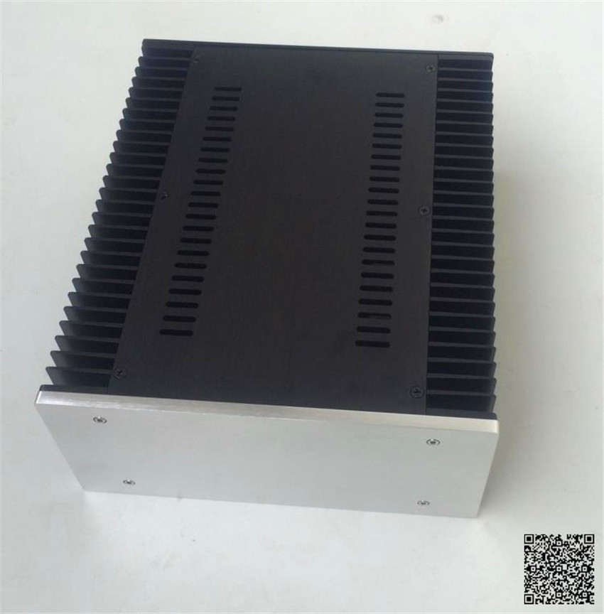 QUEENWAY 2612 Blank CNC Full aluminum small Class A amplifier audio box amp case 260mm*120mm*311mm 260*120*311mm