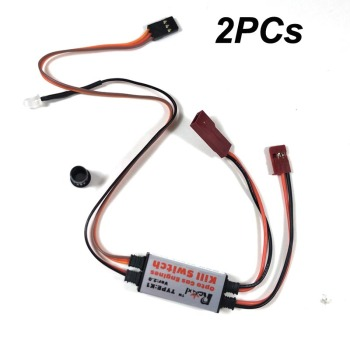 2PCs Rcexl Optp Gas Engine Kill Switch V2.0 CDI Remote Control  Stop Flameout  For RC Gasoline Airplane DLE