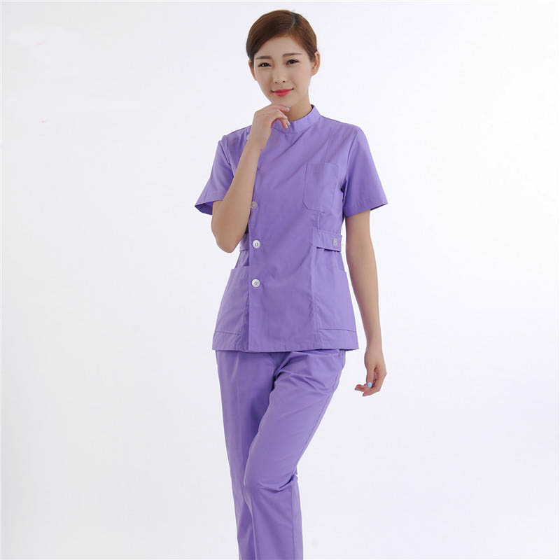 Hospital use medical clothes spa beauty salon uniforms for Spa uniform colors