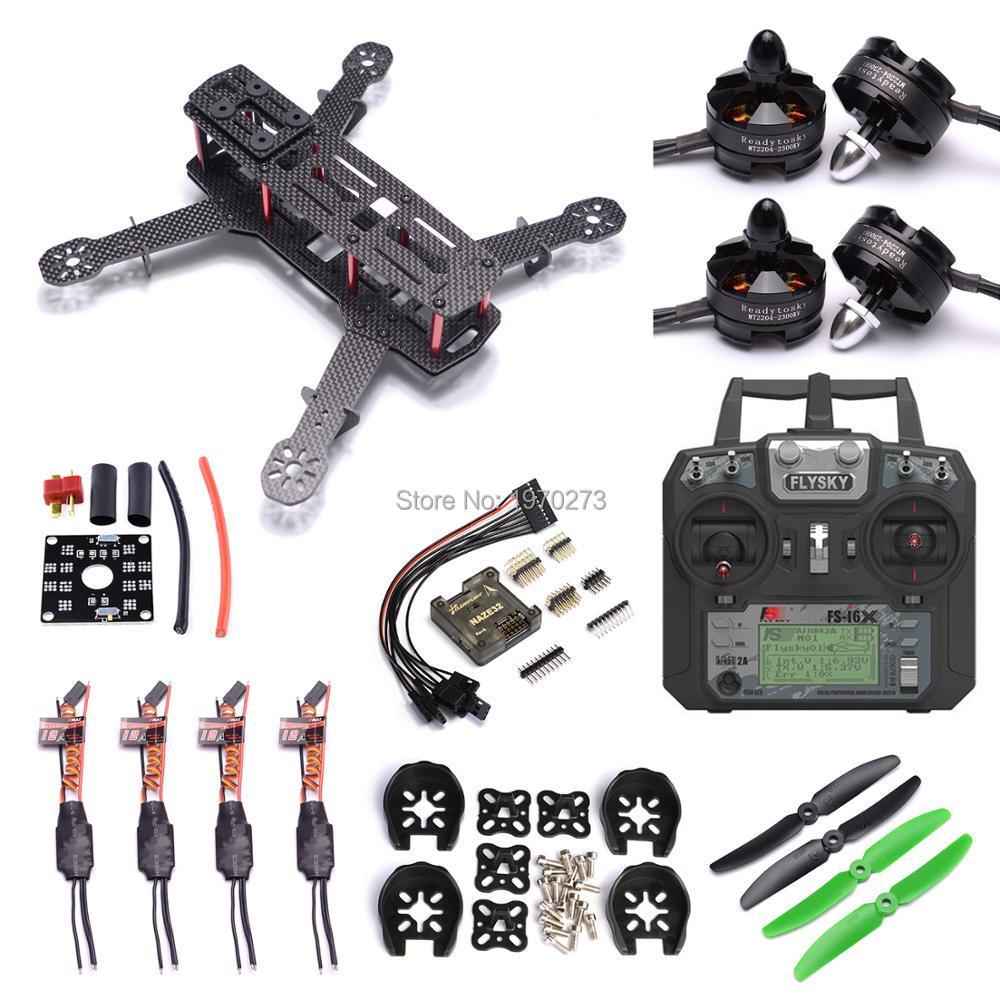 QAV250 250mm Carbon Fiber Quadcopter Frame 2204 2300kv Motor simonk 12A ESC Naze32 6DOF Vlucht Controller Flysky FS i6X-in Onderdelen & accessoires van Speelgoed & Hobbies op  Groep 1