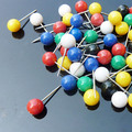 100pcs Plastic Round Head Big pins Map Tack Pin fishing accessories