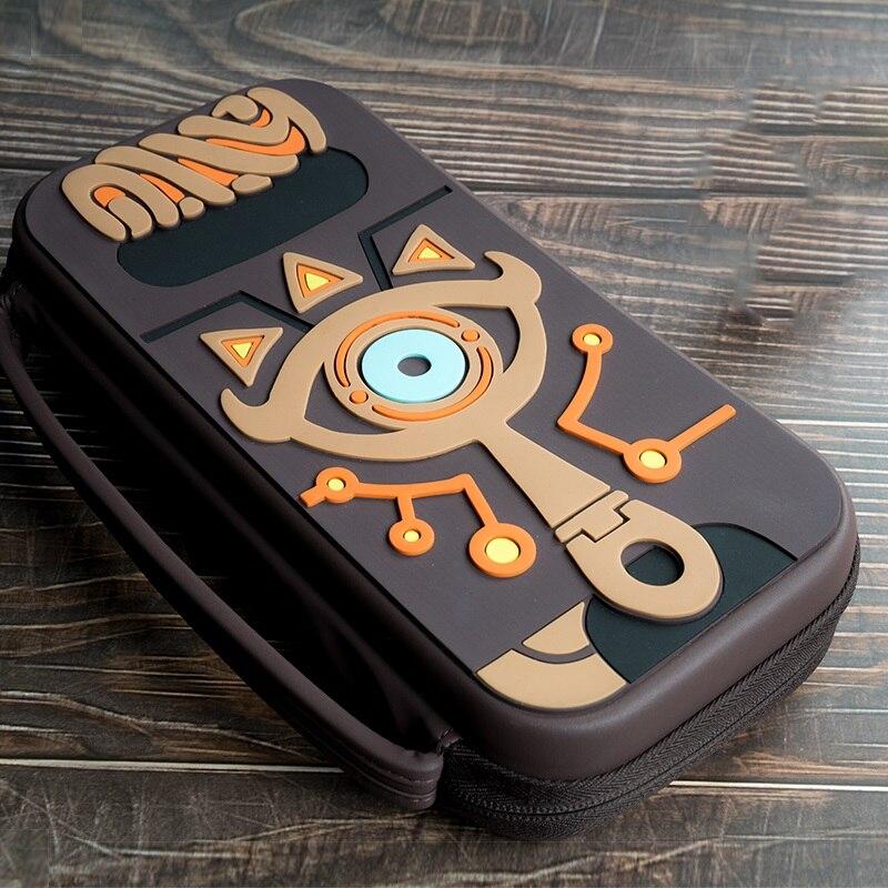 La leyenda de Zelda Sheikah pizarra bolsa de almacenamiento para consola Switch llevar de viaje Protector de la cubierta caso bolsas NS