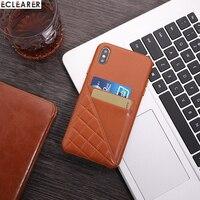 Vintage Metall Volumen Taste Stitching Echtes Leder Fall Für Apple iPhone XS MAX XS X Luxus Karte Halter Slot Zurück abdeckung Fall