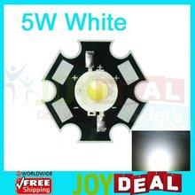 5 Вт Белый Высокой Мощности СВЕТОДИОДНЫЙ Бисера Излучатель DC6.5-7.5V 700mA 6000-6500 К с 20 мм Star Platine Базы