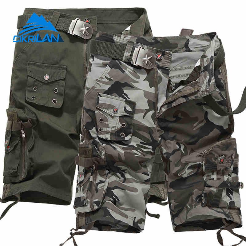 Camo Summer Leisure Outdoor Sport Pantalones Hiking Military Combat Tactical Shorts Men Climbing Trekking Cargo Short Trousers