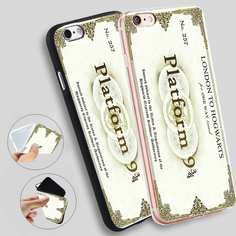 Minason Harry Potter Platform It Is Not Over Silicone Case for iPhone X 5 S 5S 6 6S 7 8 Plus Cover Phone Fundas Capinha