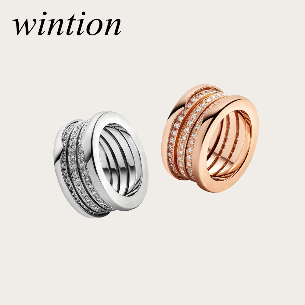 WinTion BULGARIA glamour original ring dazzling zircon fashion luxury silver large unisex jewelry free shipping
