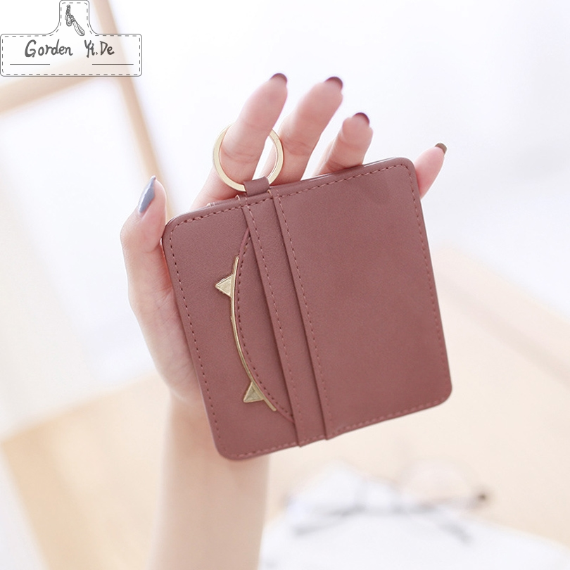 2018HOT Selling! Mens/Womens Mini ID card Holders Business Credit Card Holder PU leather Slim Bank Card Case Organizer Wallet fashion unisex business credit card holder top brand alloys bank card case id holders card organizer drop shipping gift yl