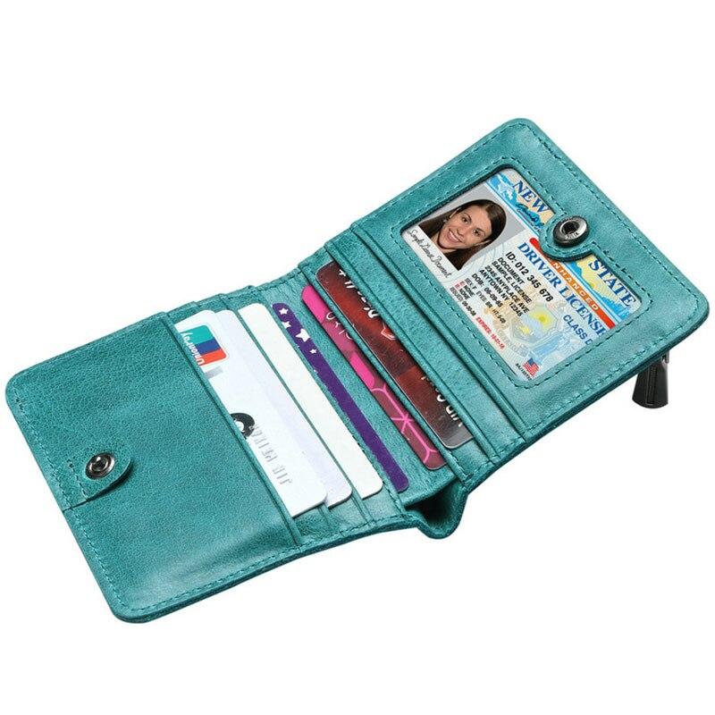 minimalista verde curto pequena carteira Material do Forro : Poliéster