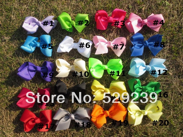 Free Shipping Boutique Baby Hair Bow with Clip,60 pcs/lot