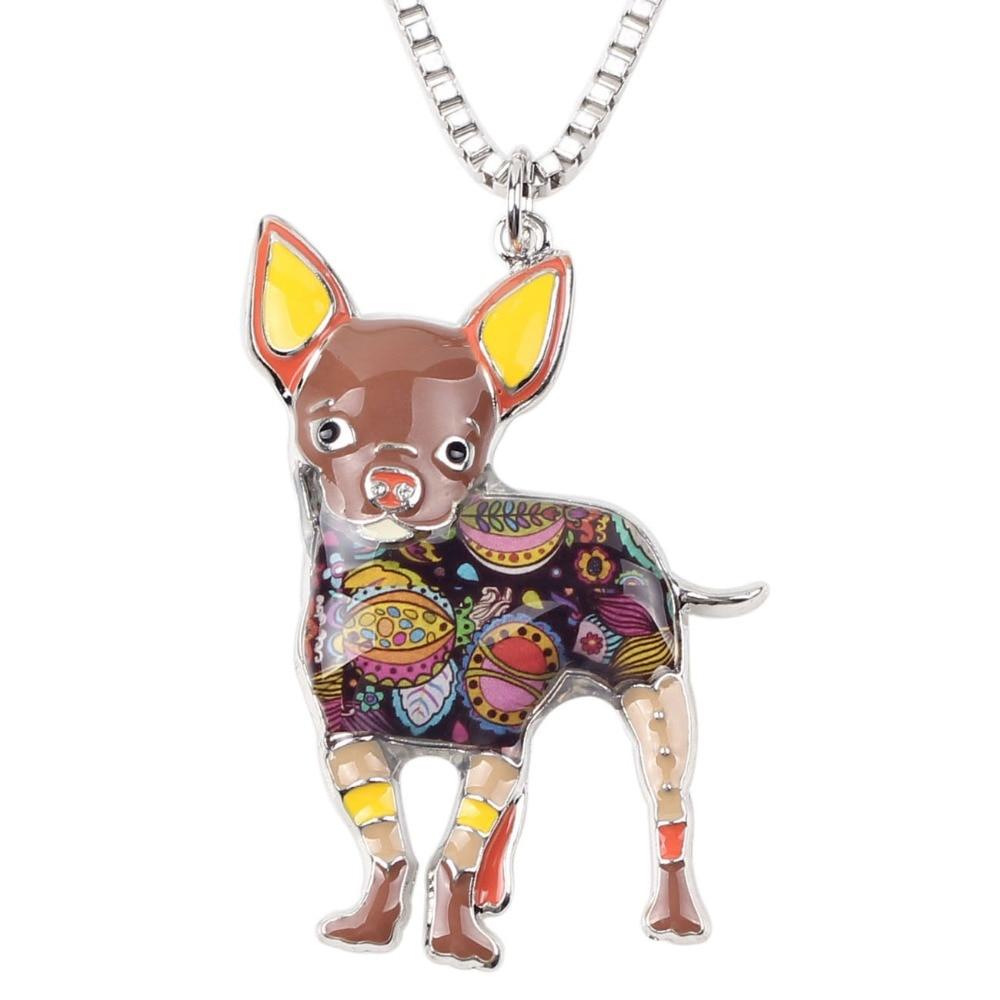 Bonsny Maxi Statement Metal Aloy Chihuahuas Dog Choker Boyunbağı - Moda zərgərlik - Fotoqrafiya 3