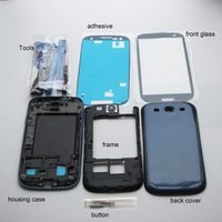 For Samsung Galaxy S3 I9300 9300i Housing Full Outer Glass Front Frame Middle Frame Battery Cover