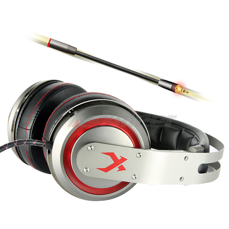 USB Gaming Headphones with Micrphone 7.1 Surround Sound Stereo Glowing Headset (4)