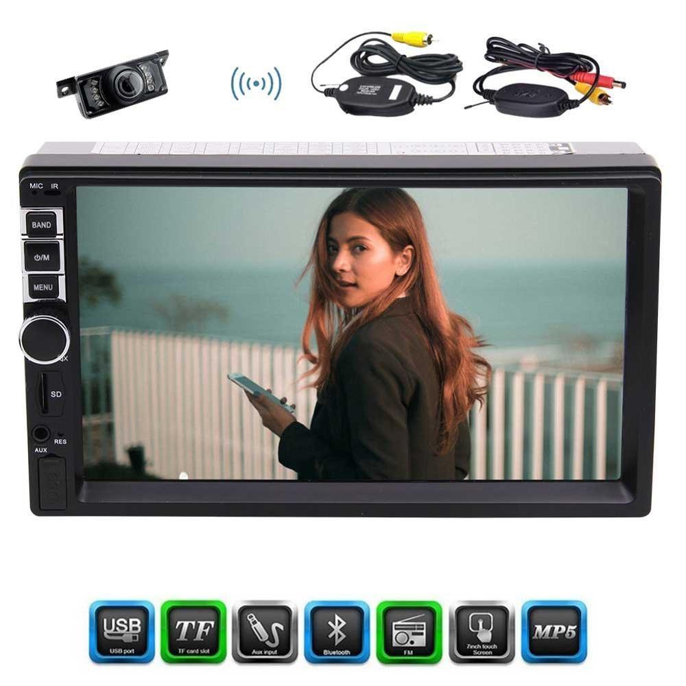 "Wireless Camera+Eincar 7"" HD Bluetooth Car Stereo Radio MP3 MP5 Player 2 Din In Dash FM/MP3/USB/AUX,Video Format/Audio Format"