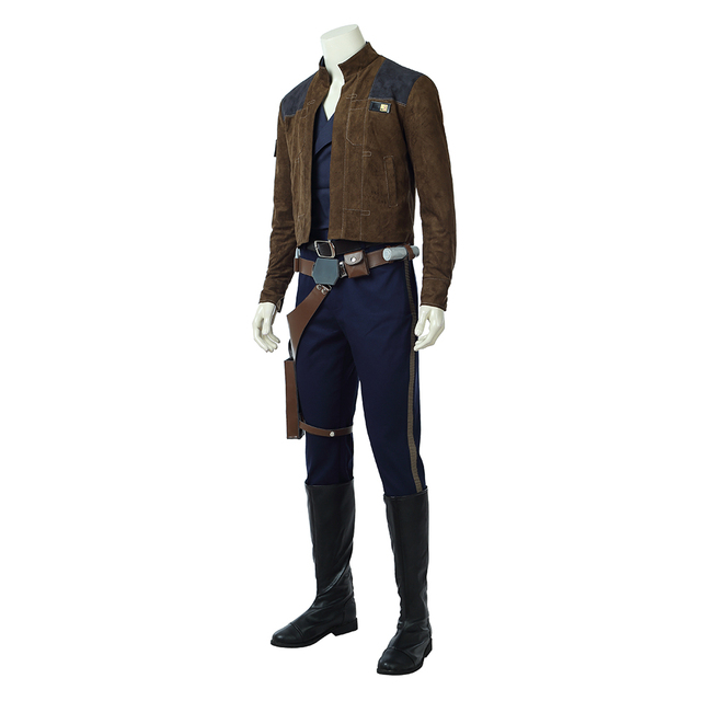 2018 Movie Solo: A Star Wars Story Cosplay Costume Men Han Solo Cosplay Costume Halloween Costumes For Men Full Set Custom Made 1