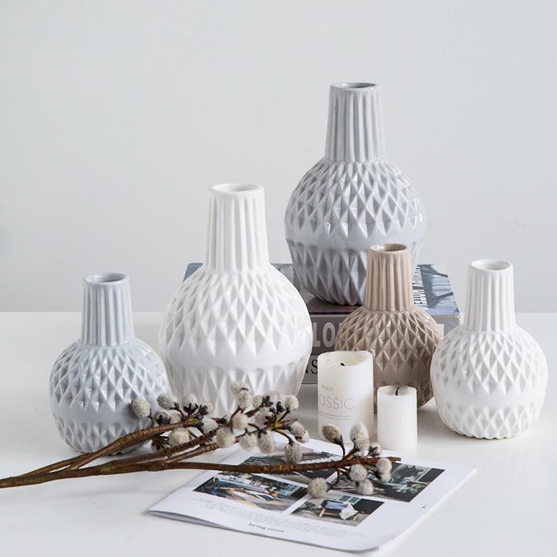 Aliexpress.com : Buy Modern Minimali White Ceramic Vase