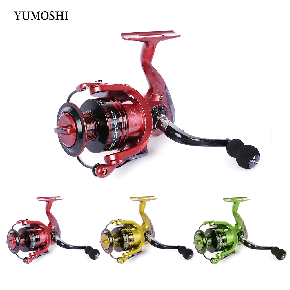All-metal Arm 13 + 1BB Mulinello Spinning Reel Fishing 4.7: 1, 5.5: 1 Testa di Metallo Bobina di Filatura 3 Colori 3000-7000 Serie