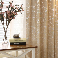 Leaves Simple Modern Language Colorful Chenille Jacquard Blackout Curtains For Living Room Bedroom Sitingroom Window