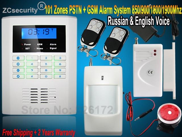 bilder für 850/900/1800/1900 MHZ PSTN und GSM Sicherheits Hause GSM Alarmanlage mit Russische und Englisch spanisch Tschechisch Sprach 2 Jahr garantie