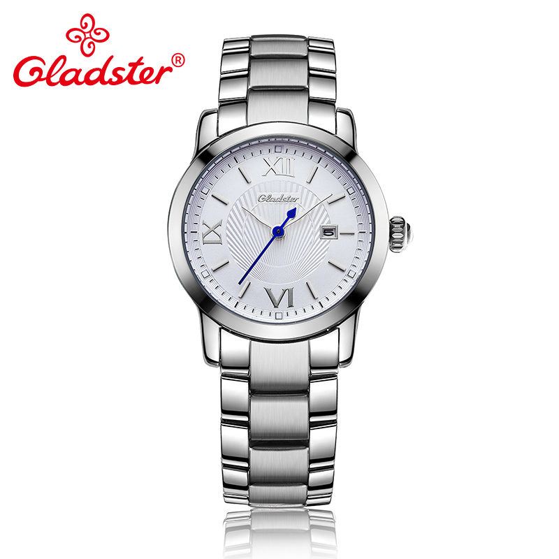 Gladster Vogue Simple Casual Stainless Steel Exquisite Golden Calendar Female ClockGladster Vogue Simple Casual Stainless Steel Exquisite Golden Calendar Female Clock