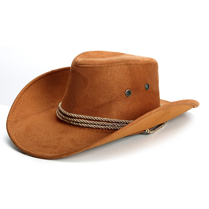 58162a41f95 Dropwow Women Men Western Cowboy Hat Unisex Riding Cap Accessory ...