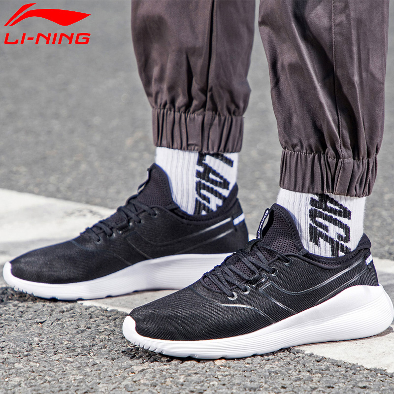 Li-Ning Men HEATHER II Classic Lifestyle Shoes Light Weight LiNing Li Ning Sock-Like Sport Shoes Fitness Sneakers AGCN061 YXB204