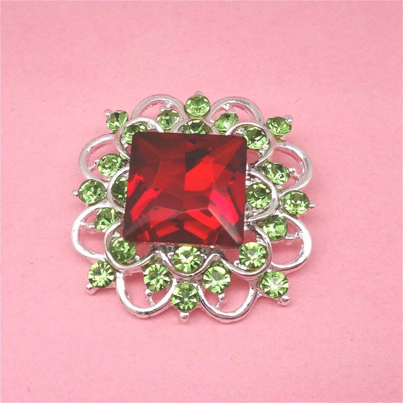 33mm Large GLASS Christmas Metal Rhinestone Buttons Square Rhinestones  Wedding Bouquets Button 30pcs RMM121-in Buttons from Home   Garden on  Aliexpress.com ... 764f716fed09