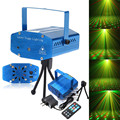 New light Stage Shining Lamp Sound Activation Stage Laser Star Starry Effects Projector - Green&Red Lights Bar Disco Party Lamp