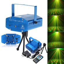 New light Stage Shining Lamp Sound Activation Stage Laser Star Starry Effects Projector – Green&Red Lights Bar Disco Party Lamp