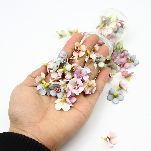 Mini Colorful Artificial Flower Heads Set