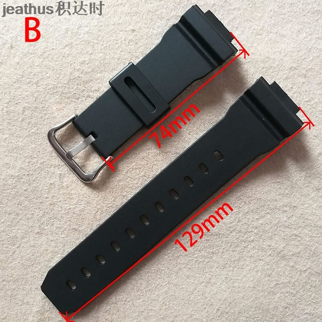 Jeathus watchband for casio G-shock GW-M5610 DW-6900 GW-M5600 DW-5600 G5700 Rubber  Strap covex interface 16mm pu Watch band