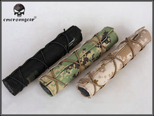 EmersonGear 22cm Airsoft Suppressor Cover PenCott Badlands GreenZone Multicam Black Tropic Arid etc Hunting Gun Accessories