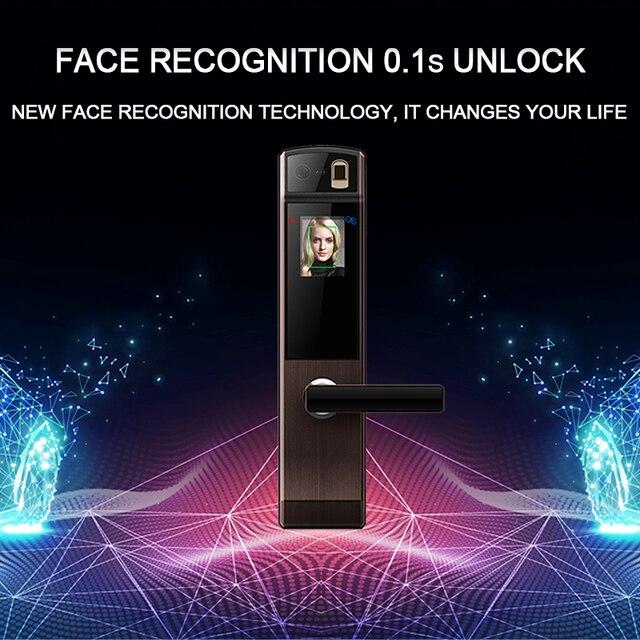 Eseye Face Digital Door Lock Electronic Lock Door Fingerprint Intelligent Electronic Locks Smart Door Lock Touch Screen Keyless