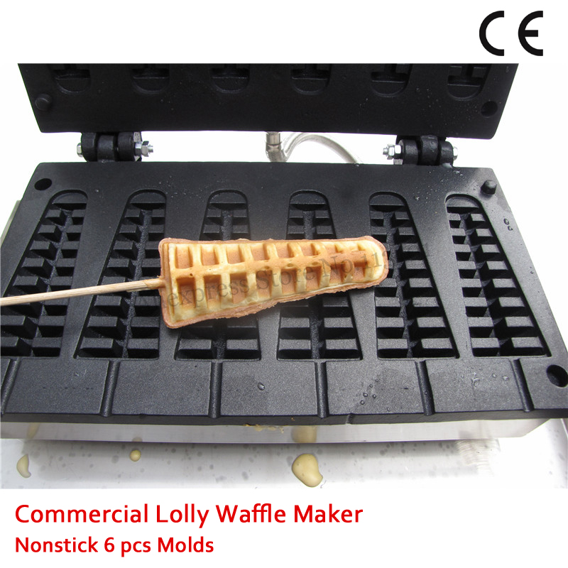 110V 220V Commercial Electric Long Waffle Baker Machine Tower-Type Lolly Waffle Maker Nonstick 1500W