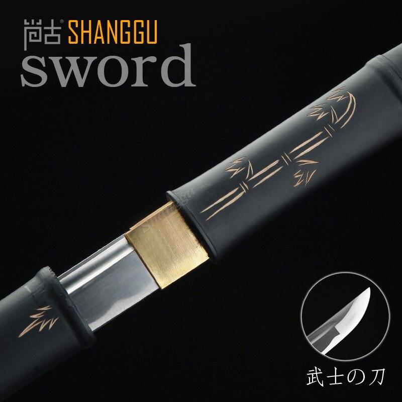 Bamboe en bamboe patroon vorm gesneden rechte Samurai zwaard film - Huisdecoratie