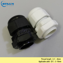 Cable Gland Joints Cable Gland Connector 5-10mm PG11 Waterproof Nylon Cable Gland 0.19*0.39inch m40 1 5 ip68 waterproof nylon plastic cable gland white connector suitable for 22mm to 32mm cable wire 4pcs pack
