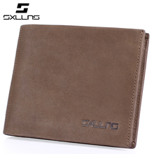 Men Wallets Famous Brand Genuine Leather Purse Solid Colors Retro Casual Mens Cowhide Practical Short Wallet Credit Card Holder