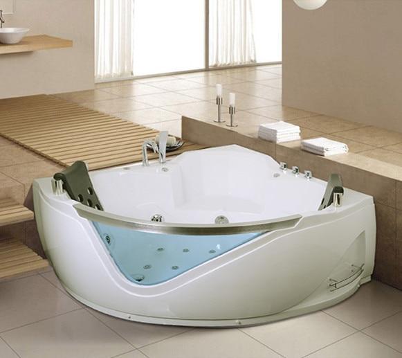 Hot sale corner massage bathtub whirlpool bathtub