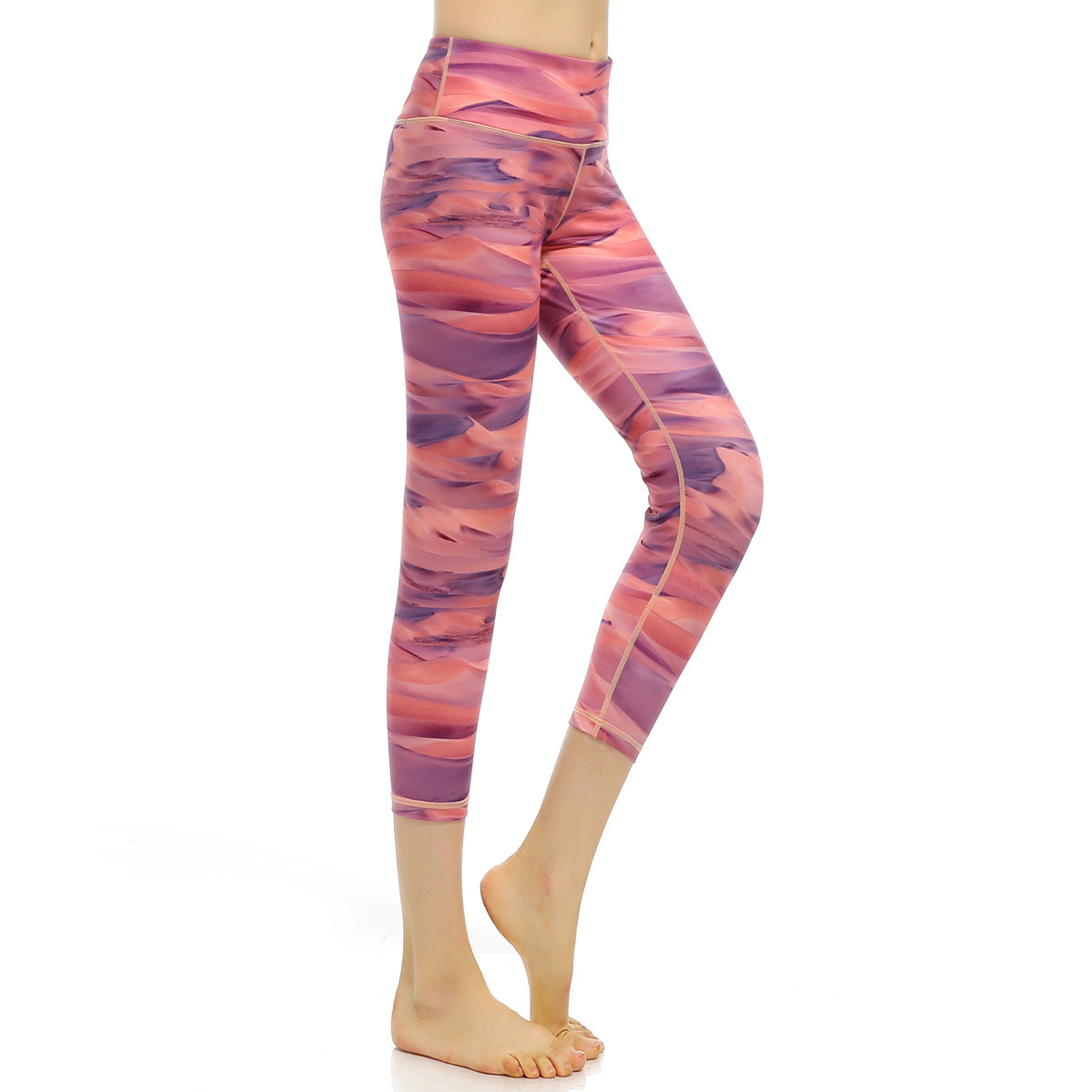 Ropa Deportiva Elasticity Print Quick Dry Sporting Leggings Pink Women Compression Pants Rainforest Printing Legging Leggins