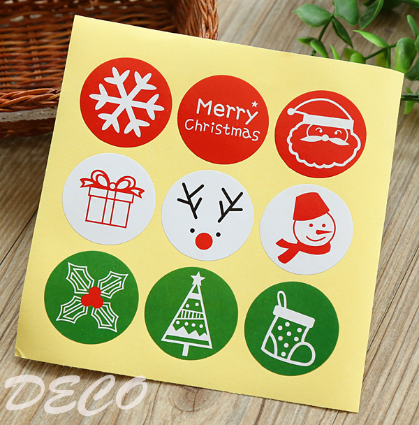 100pcs/lot Kawaii Christmas Series Gift Seal Stickers
