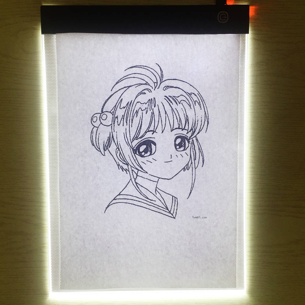 Led Portable A4 Graphic Tablet Night Light Tracing Board Copy Tablet Digital Drawing Pads Artcraft A4 Copy Diamond Painting Lamp (5)